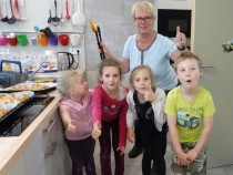 Backen in der Kinderküche